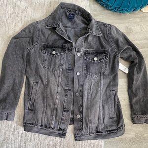 NWT Gap Oversized Washed Black Denim Jacket XS/S